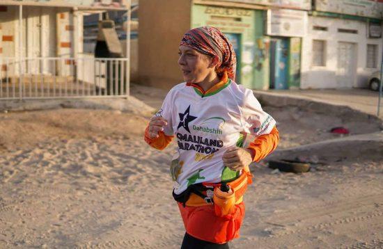 Runner at Somaliland Marathon 2019